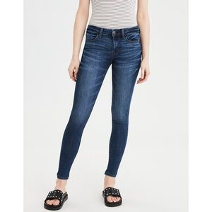 AEO Super Stretch Mid Rise Skinny Jean Jeggings